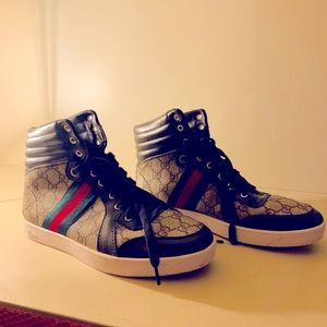 Gucci high top shoes Authentic